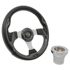 Club Car DS Carbon Fiber Steering Wheel Chrome Adapter Kit (Fits 1982-Up)