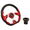 Club Car DS Red Racer Steering Wheel Black Adapter Kit (Fits 1982-Up)