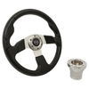 Club Car DS Black Rally Steering Wheel Chrome Adaptor Kit (Fits 1982-Up)