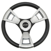 Gussi Model 13 Black/Brushed Steering Wheel For All Club Car DS Models