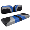 Red Dot® Blade Front Seat Covers for Club Car Precedent - Alpha Blue/Silver/Black Carbon Fiber