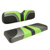 Red Dot® Blade Front Seat Covers for CC Precedent - Lime Green/Charcoal Gear/Black Carbon Fiber