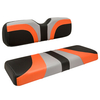 Red Dot® Blade Front Seat Covers for Club Car Precedent - Gray / Orange / Black Carbon Fiber