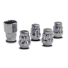 Set of (4) 1/2'' Wheel Lock - Lug Nut Set (Universal Fit)