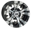 GTW Vampire 10 inch Machined & Black Wheel (3:4 Offset)