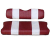 Club Car DS Red / White Seat Cover Set (Fits 2000-2004)
