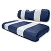 Club Car DS Navy / White Seat Cushion Set (Fits 1979-1999)