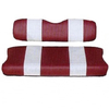 Club Car Precedent Red / White Front Seat Cover Set (Fits 2004-Up)