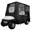 Classic Accessories Deluxe Black 4-Passenger Golf Cart Enclosure (Universal Fit)