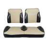 E-Z-GO RXV Black / Tan Suite Seats (Fits 2016-Up)