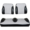 E-Z-GO TXT Black / Silver Suite Seats (Fits 2014-Up)