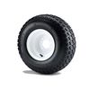 18x8.5-8 Traction 6ply Tire Mounted On White Steel Wheel