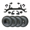 5″ E-Z-GO Medalist / TXT Gas Lift Kit Combo With Black Steel Wheels (Fits 1994.5-2001.5)