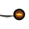 "Amber 3/4"" LED Round Light W/ Rubber Gasket Waterproof (Universal Fit)"