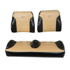 E-Z-GO RXV Black / Tan Suite Seats (Fits 2008-2015)
