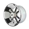 12x7 Black / White Storm Trooper Wheel (2.5 Offset)