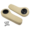 Set of (2) Club Car Precedent Beige Rear Seat Armrest Cushion Set W/ Cupholders (Fits 2004-Up)