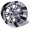 14x7 Diesel Wheel (Machined Silver/Black Finish)
