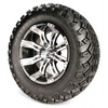 Set of (4) 12 inch GTW Tempest Wheels Mounted on A/T Tires (Lift Required)