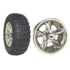 "Set Of (4) 12"" Godfather Wheels On A/T Tires (Lift Required)"