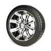 Set of (4) 12 inch GTW Tempest Wheels Mounted on Lo-Pro Street Tires