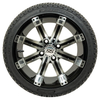 Set of (4) 14 inch GTW Tempest Wheels Mounted on Fusion Street Tires