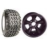 Set Of (4) 12'' Godfather Black Wheels on A/T Tires (Lift Required)