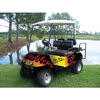 Hot Rod Style Flame Golf Cart Body Wrap (Universal Fit)