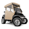Beige 3-Sided Straight Back Over The Top Club Car DS Enclosure (Fits 2000-Up)
