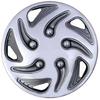 8″ Chrome & Black Swirl Wheel Cover