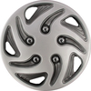 "8"" Silver & Black Swirl Wheel Cover"