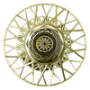 8 Inch Gold Wire Spoke Wheel Cover