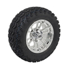 Set of (4) 12 inch Mirrored Typhoon Wheels on 22 inch A/T Tires (Lift Required)