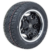 "Set Of (4) 12"" Mogul Wheels & Low-Pro Street Tires (No Lift Required)"