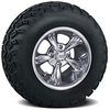 Set of (4) 10 inch Godfather Wheels on A/T Tires
