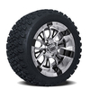 Set of (4) 14 inch Diesel Wheels on A/T Tires