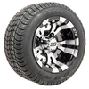 Set of (4) 10 inch GTW Vampire Wheels on Mounted on Duro Lo-Pro Street Tires