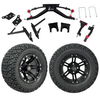 "GTW 6"" Lift w/12"" Specter Matte Black Wheel & Recon A/T Tire For Club Car DS (2004.5-Up)"