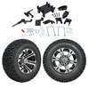"GTW 5"" Lift w/12"" Specter Machined/Black Wheel & Recon A/T Tire For E-Z-GO RXV (2008-Up)"
