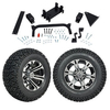 "GTW 5"" Lift w/12"" Specter Machined/Black Wheel & Recon A/T Tire For Yamaha (G29/Drive)"