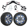 "GTW 6"" Lift w/14"" Nemesis Metallic Wheel & Barrage Mud Tire For Club Car Precedent (2004-Up)"