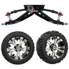 "GTW 6"" Lift w/14"" Vampire Machined/Black Wheel & Barrage Mud Tire For Club Car DS (1982-2003)"