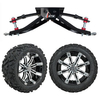 "GTW 6"" Lift w/14"" Tempest Machined/Black Wheel & Barrage Mud Tire For Club Car DS (1982-2003)"