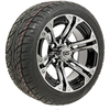 "Set of (4) 12"" GTW Specter Wheels on Lo-Pro Street Tires"