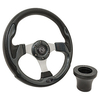Club Car DS Carbon-Fiber Rally Steering Wheel Black Adapter Kit (Fits 1982-Up)
