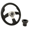 Club Car DS Black Rally Steering Wheel Black Adaptor Kit (Fits 1982-Up)