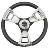 Gussi Italia® Model 13 Black/Chrome Steering Wheel For All Club Car DS Models