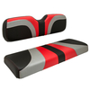 Red Dot® Blade Rear Seat Covers for GTW Mach 1 & Mach 2 - Red / Silver / Black Carbon Fiber