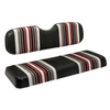 Red Dot Harmony Bugundy/Black/White Rear Seat Covers for GTW Mach1 & Mach2 Rear Seat Kits