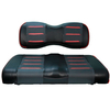 Buggies Unlimited Red/Carbon Prism Seat Covers for Club Car